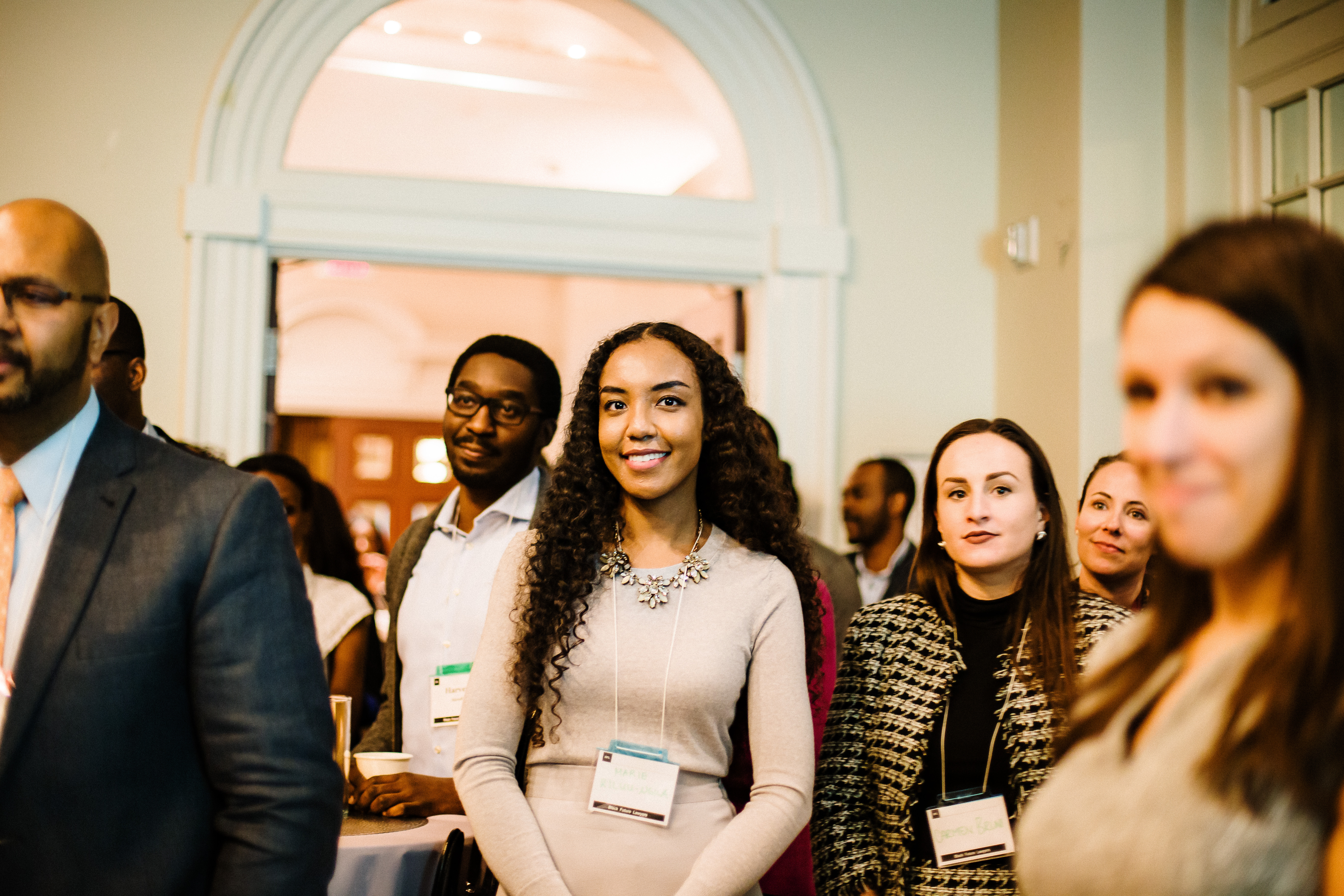 Marie Kiluu-Nigila (centre) at the Black Future Lawyers launch event in January 2020 (photo by Muna Khalil/View in Lens Photography)